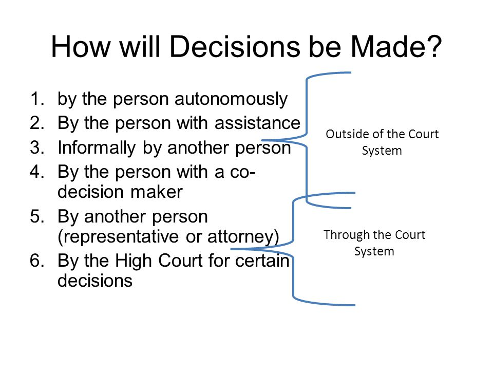 How will Decisions be Made