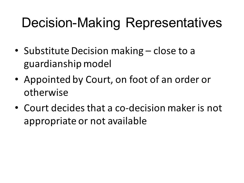 Decision-Making Representatives