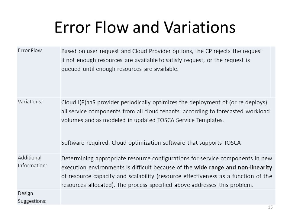 Error Flow and Variations