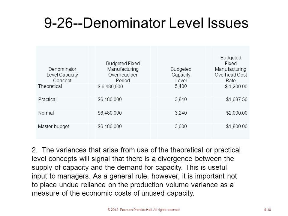 9-26--Denominator Level Issues