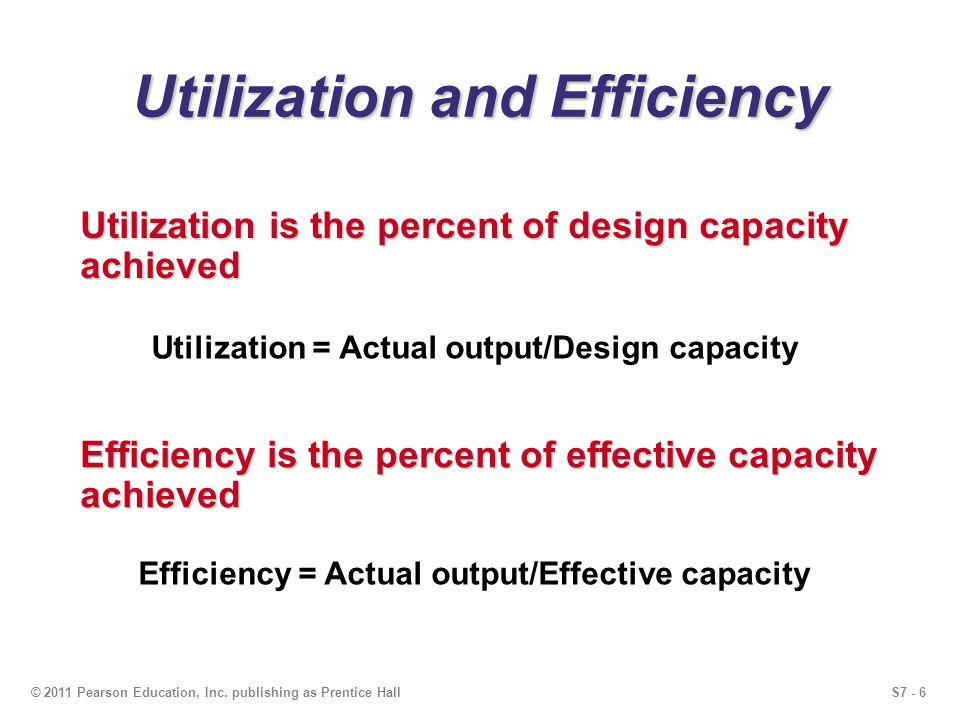 Utilization and Efficiency