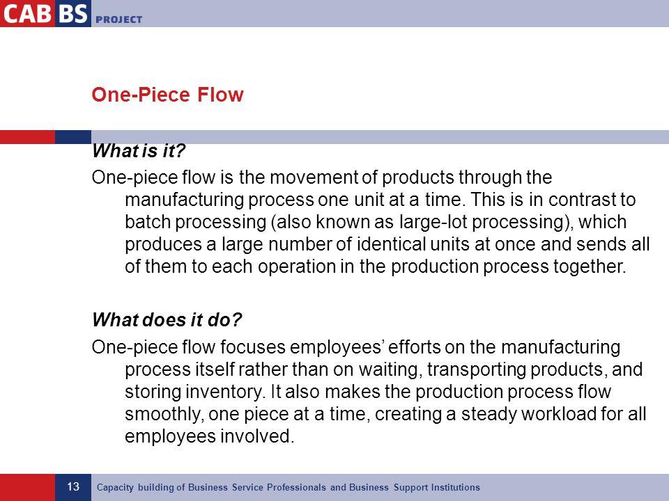 One-Piece Flow