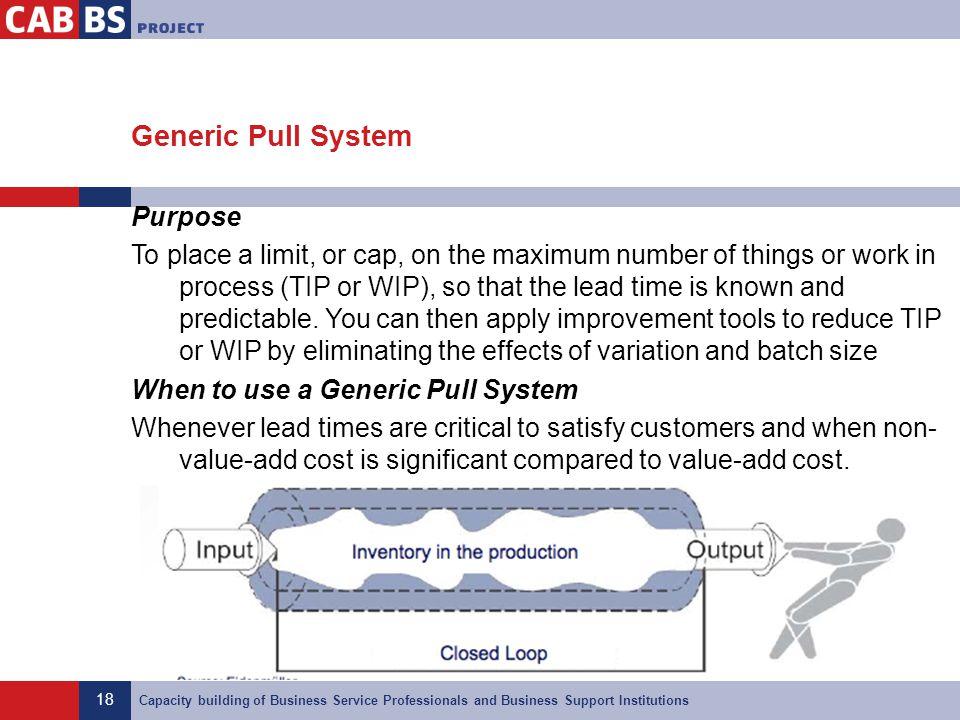 Generic Pull System
