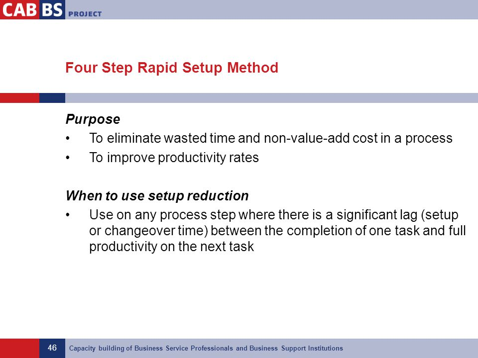 Four Step Rapid Setup Method