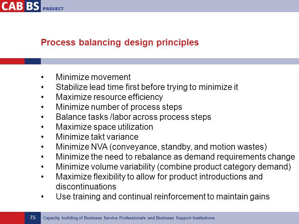 Process balancing design principles