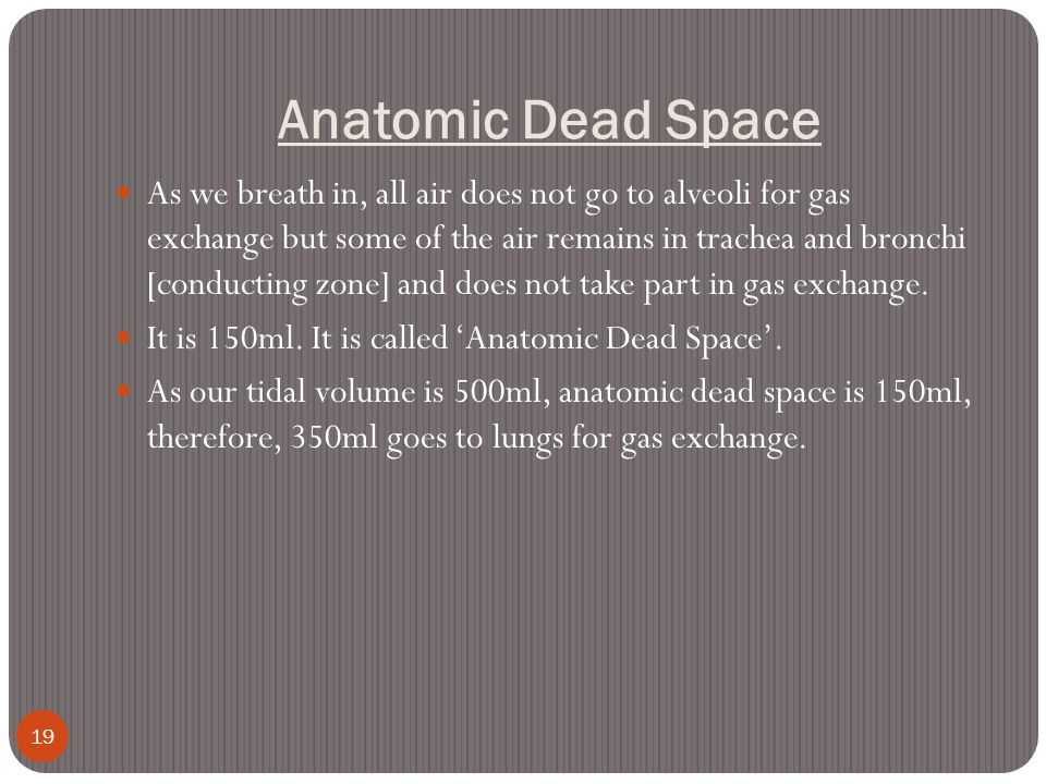 Anatomic Dead Space