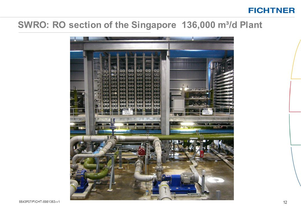 SWRO: RO section of the Singapore 136,000 m³/d Plant
