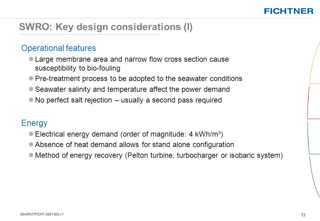SWRO: Key design considerations (I)