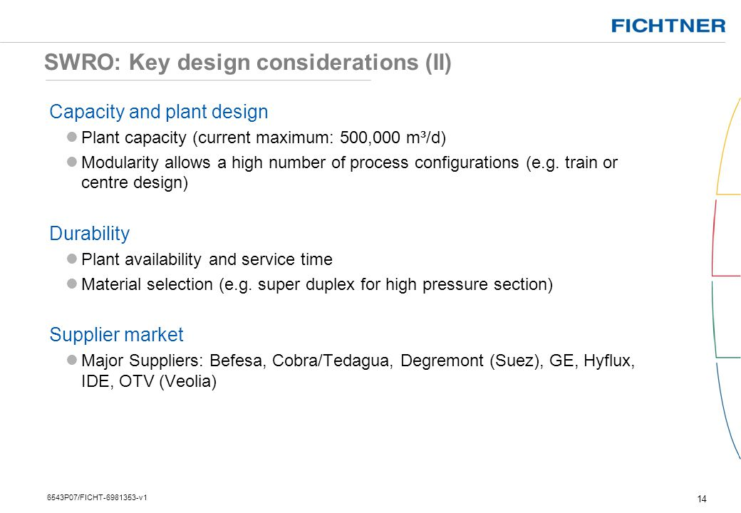 SWRO: Key design considerations (II)
