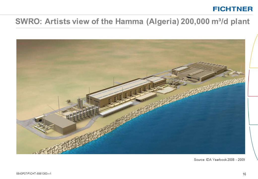 SWRO: Artists view of the Hamma (Algeria) 200,000 m³/d plant