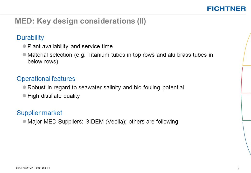 MED: Key design considerations (II)