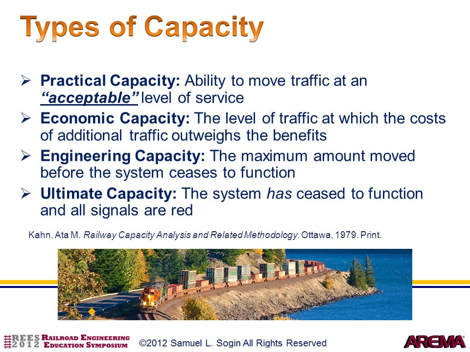 Types of Capacity Practical Capacity: Ability to move traffic at an acceptable level of service.