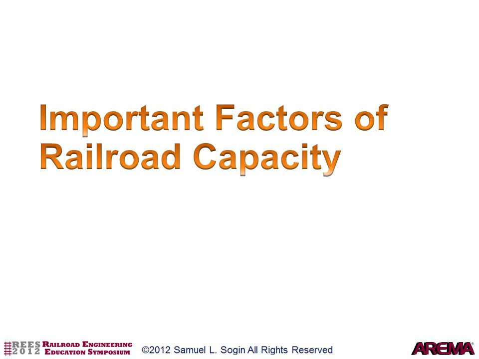 Important Factors of Railroad Capacity