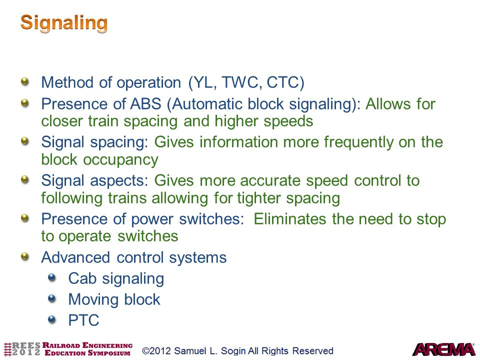 Signaling Method of operation (YL, TWC, CTC)
