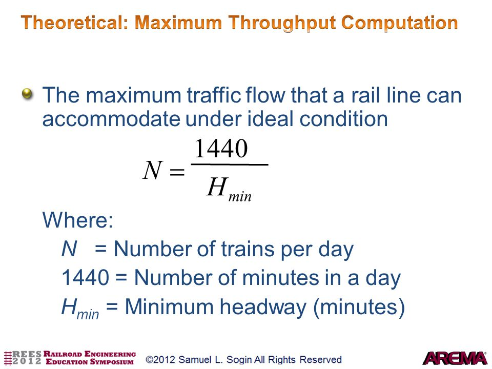 Theoretical: Maximum Throughput Computation