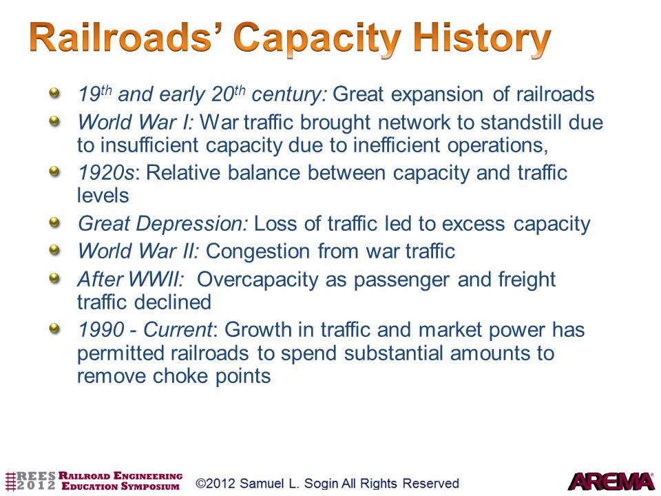 Railroads' Capacity History