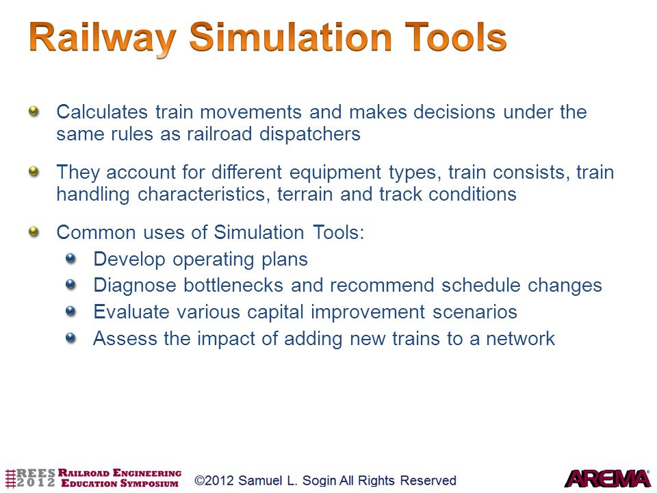 Railway Simulation Tools