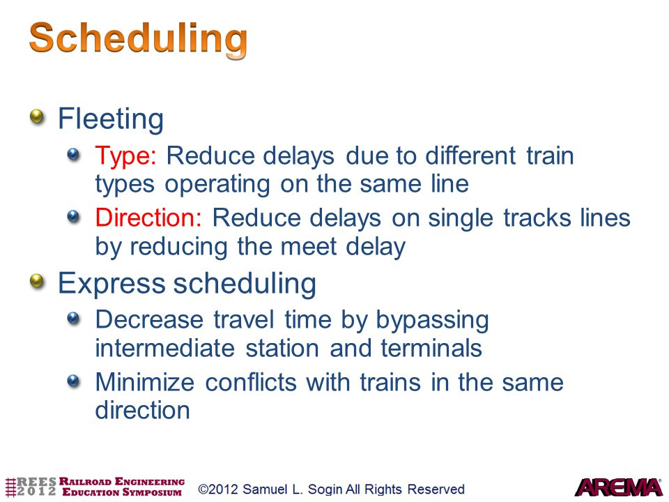 Scheduling Fleeting Express scheduling