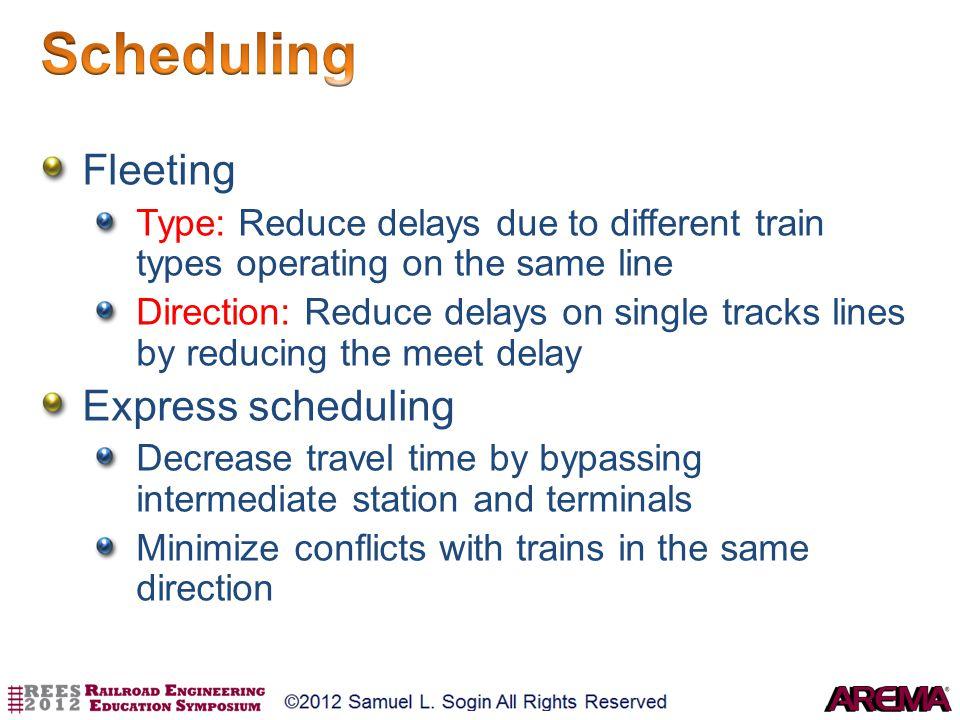 Scheduling Fleeting Express scheduling