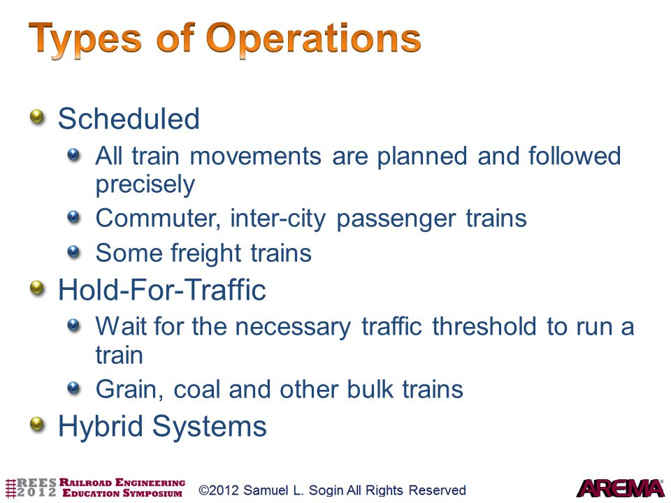 Types of Operations Scheduled Hold-For-Traffic Hybrid Systems