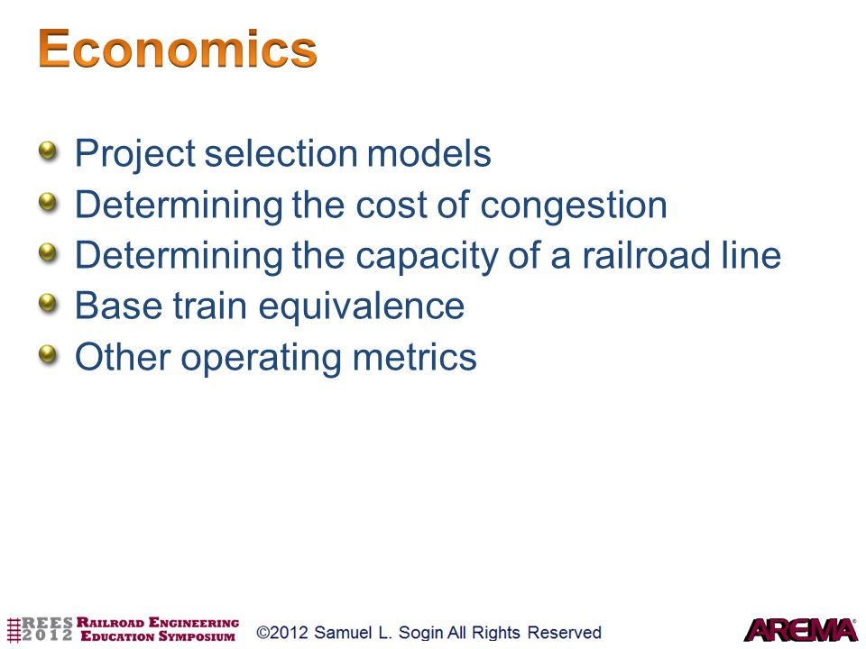 Economics Project selection models Determining the cost of congestion