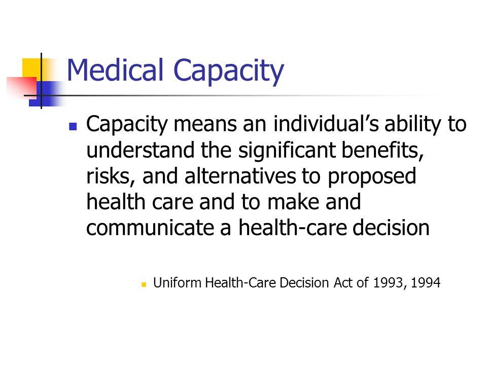 Medical Capacity