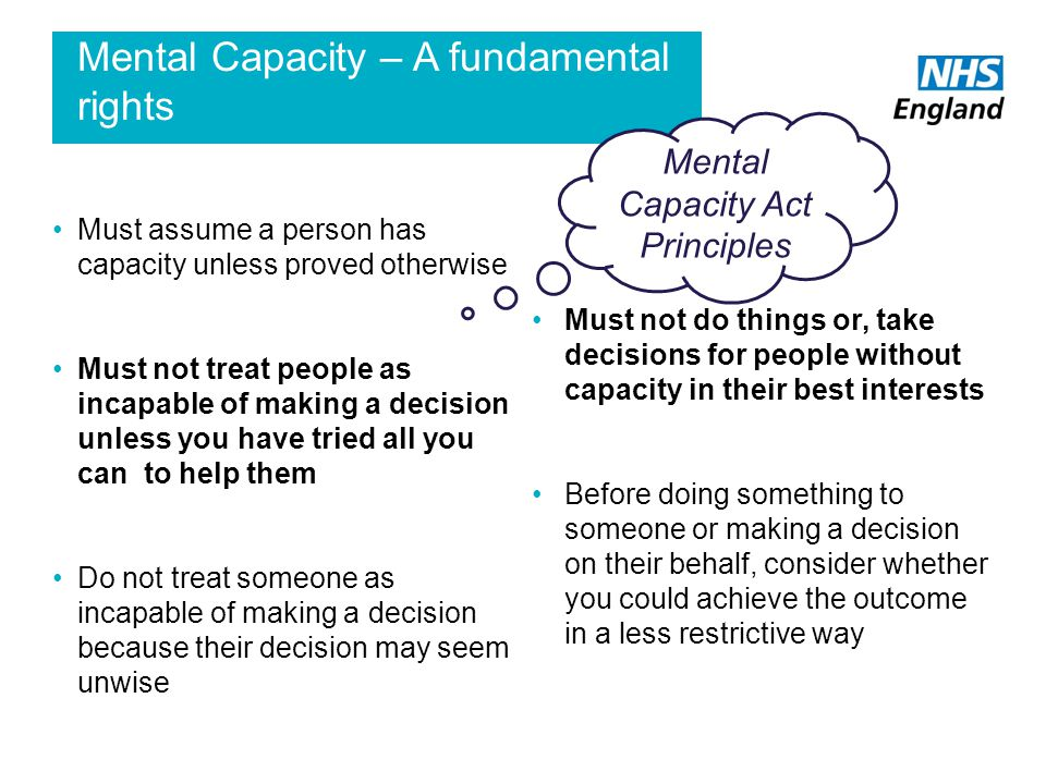 Mental Capacity – A fundamental rights
