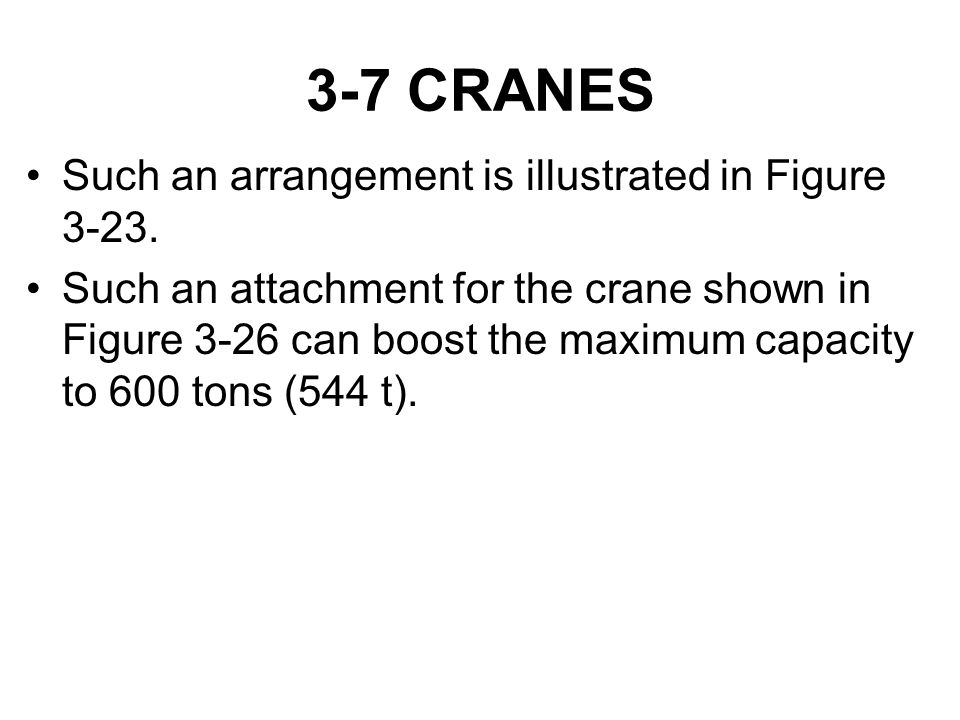 3-7 CRANES Such an arrangement is illustrated in Figure 3-23.