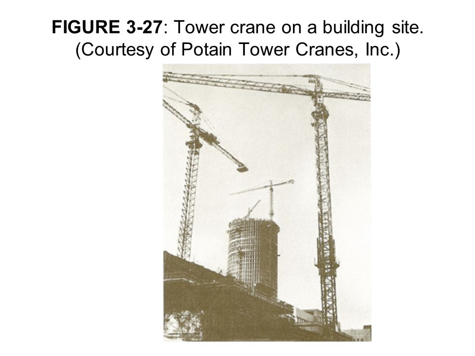 FIGURE 3-27: Tower crane on a building site