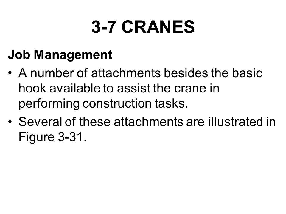 3-7 CRANES Job Management