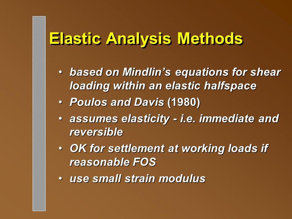 Elastic Analysis Methods