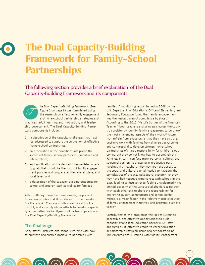 The Dual Capacity-Building Framework for Family–School Partnerships