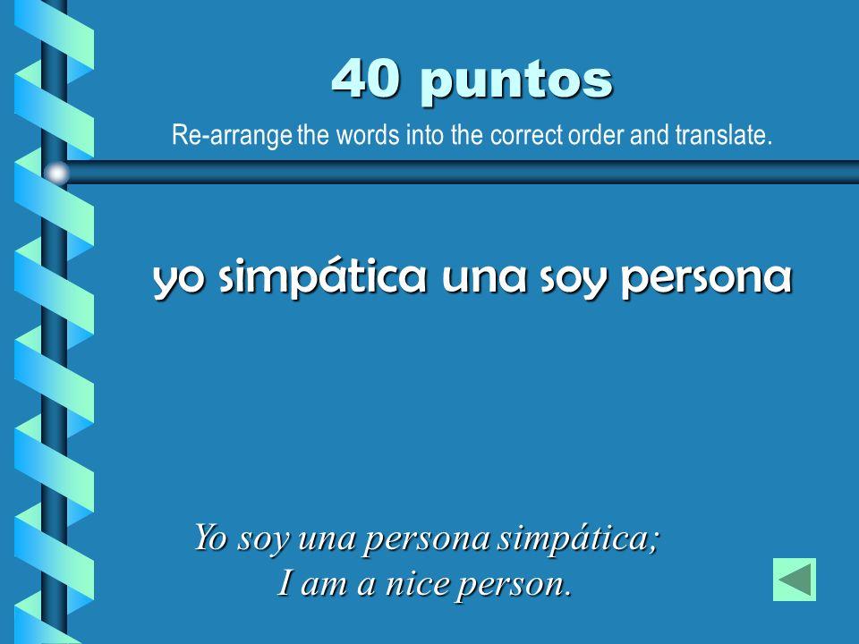 yo simpática una soy persona