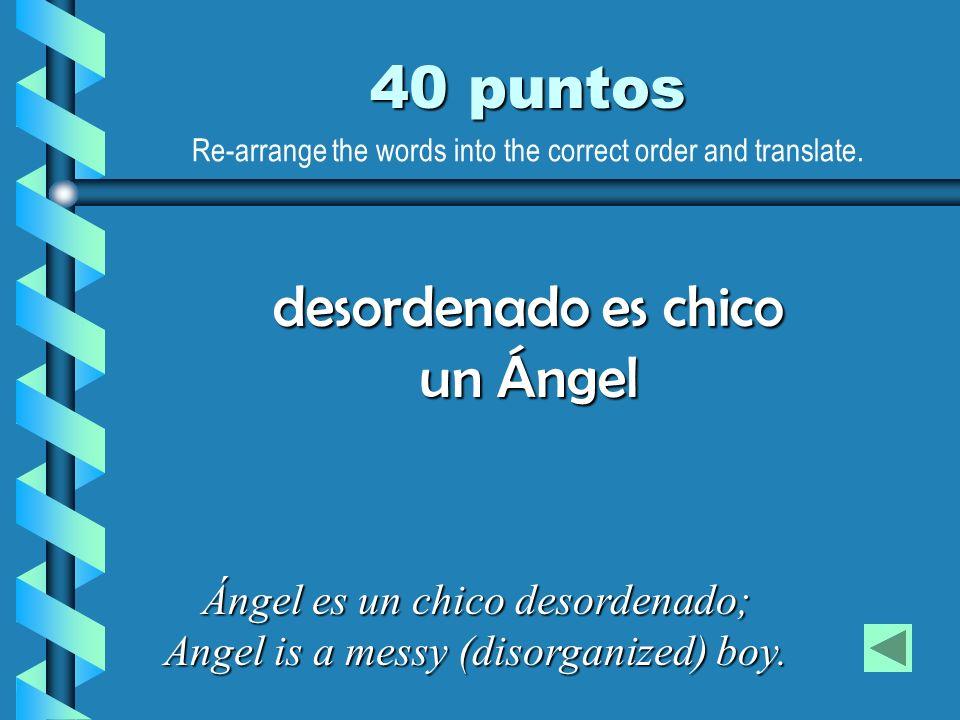 desordenado es chico un Ángel
