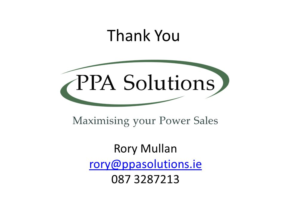 Rory Mullan rory@ppasolutions.ie
