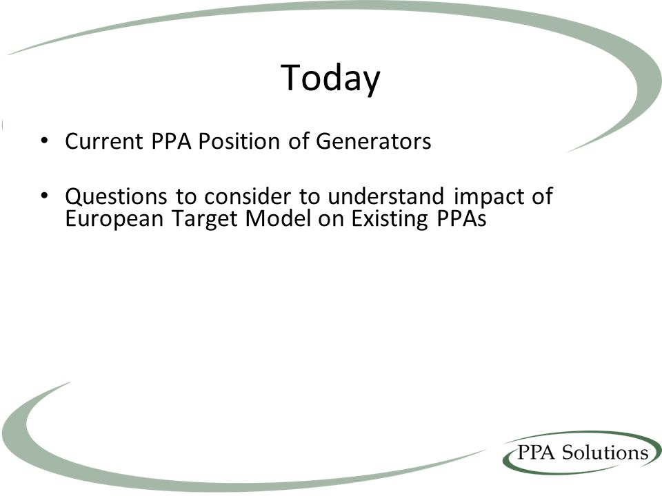 Today Current PPA Position of Generators