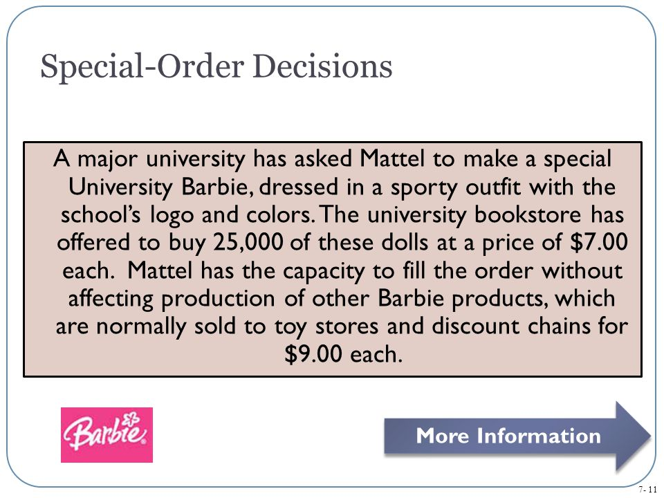 Special-Order Decisions