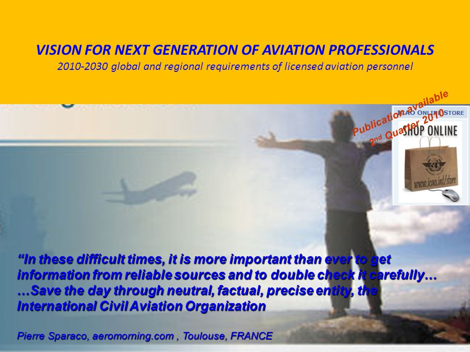 VISION FOR NEXT GENERATION OF AVIATION PROFESSIONALS