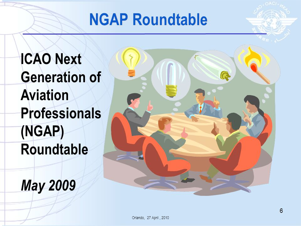 NGAP Roundtable ICAO Next Generation of Aviation Professionals (NGAP)