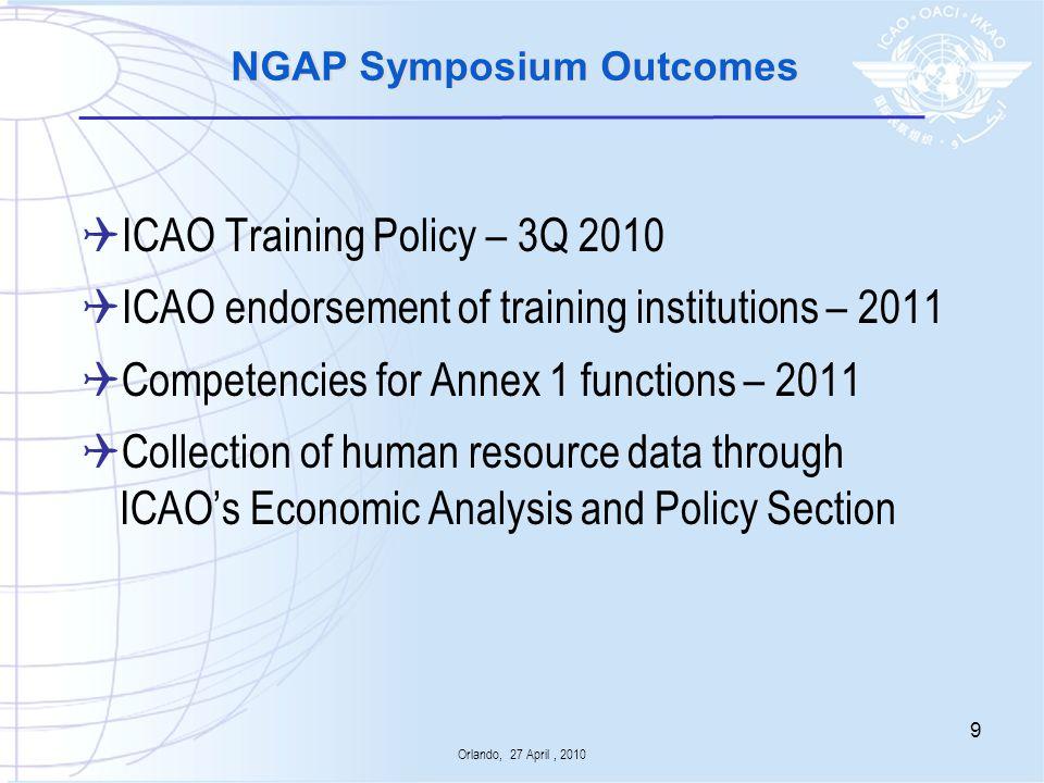 NGAP Symposium Outcomes
