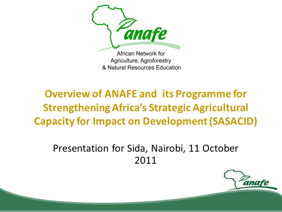 Presentation for Sida, Nairobi, 11 October 2011