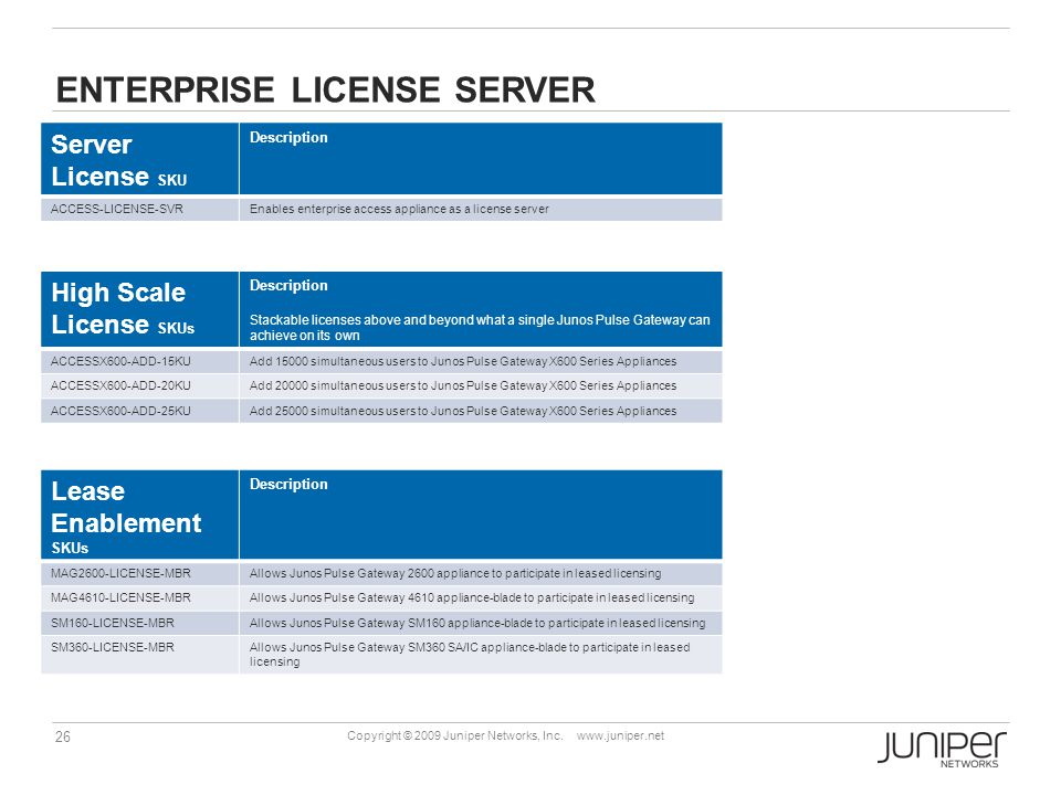 Enterprise license server
