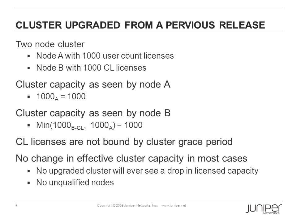 CLUSTER UPGRADED FROM A PERVIOUS RELEASE