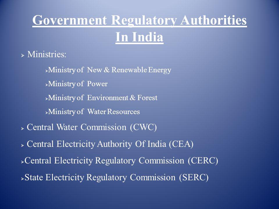 Government Regulatory Authorities In India