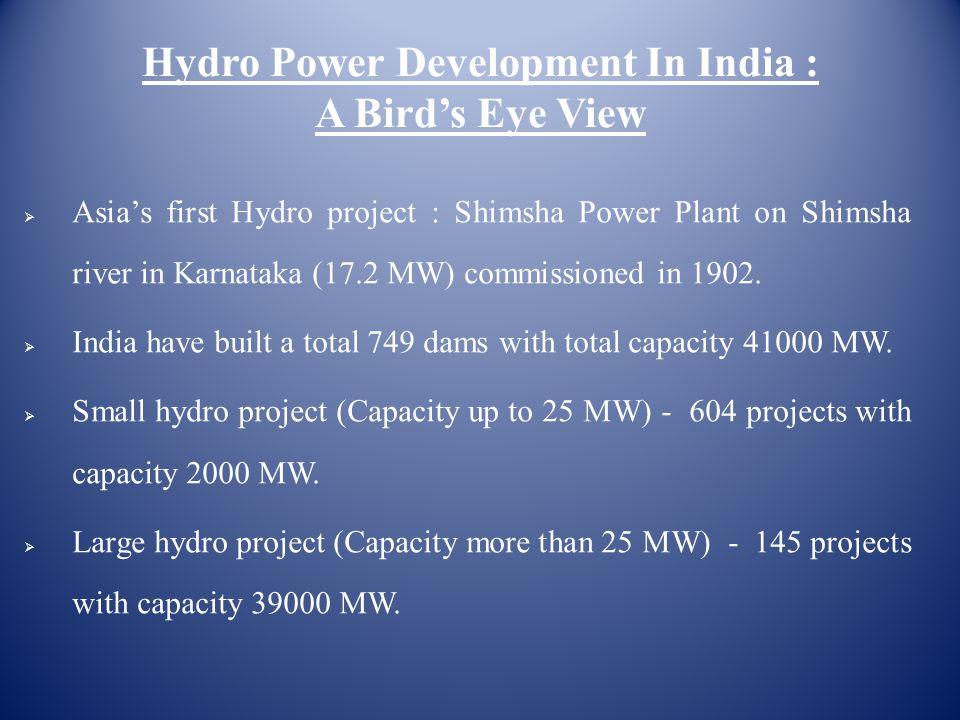 Hydro Power Development In India : A Bird's Eye View