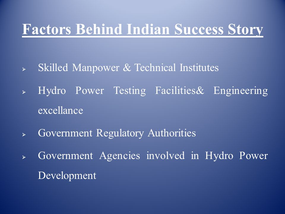 Factors Behind Indian Success Story