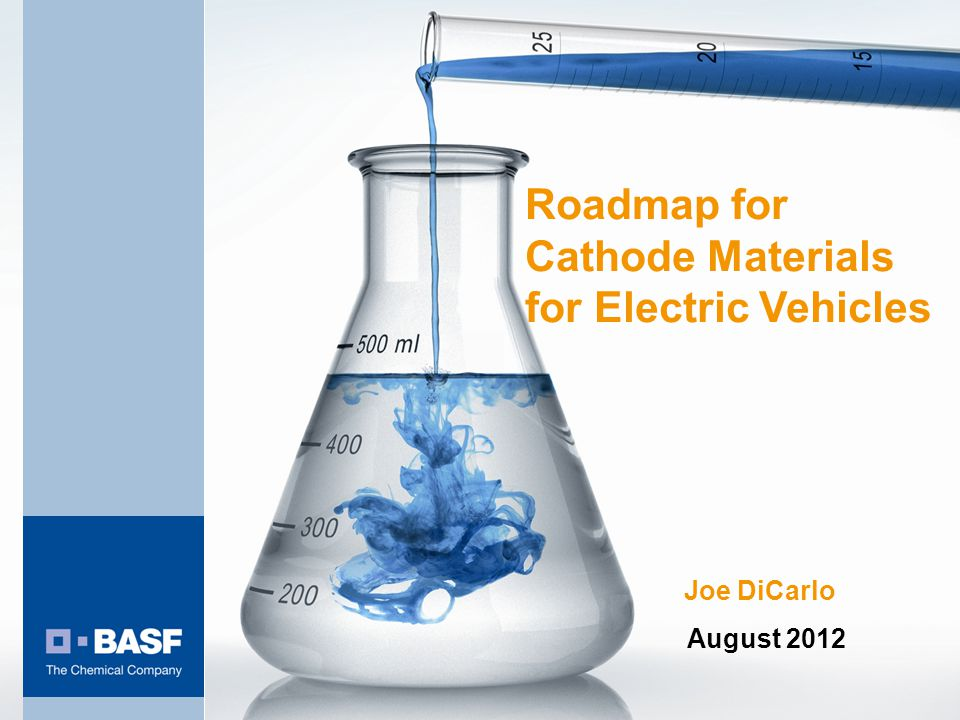Roadmap For Cathode Materials For Electric Vehicles Ppt