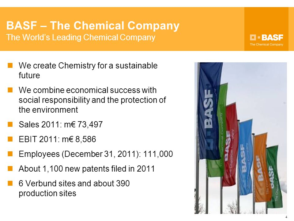 BASF – The Chemical Company The World's Leading Chemical Company