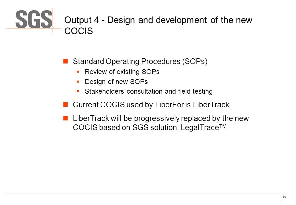 Output 4 - Design and development of the new COCIS