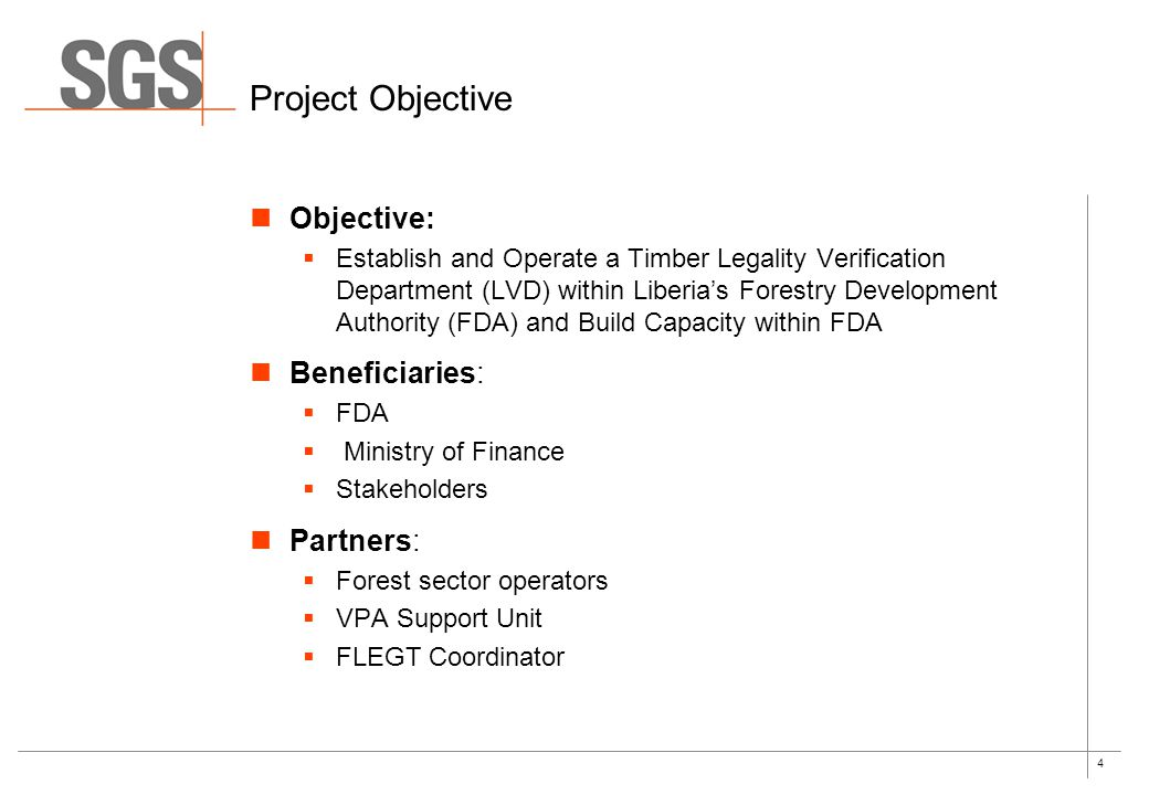 Project Objective Objective: Beneficiaries: Partners: